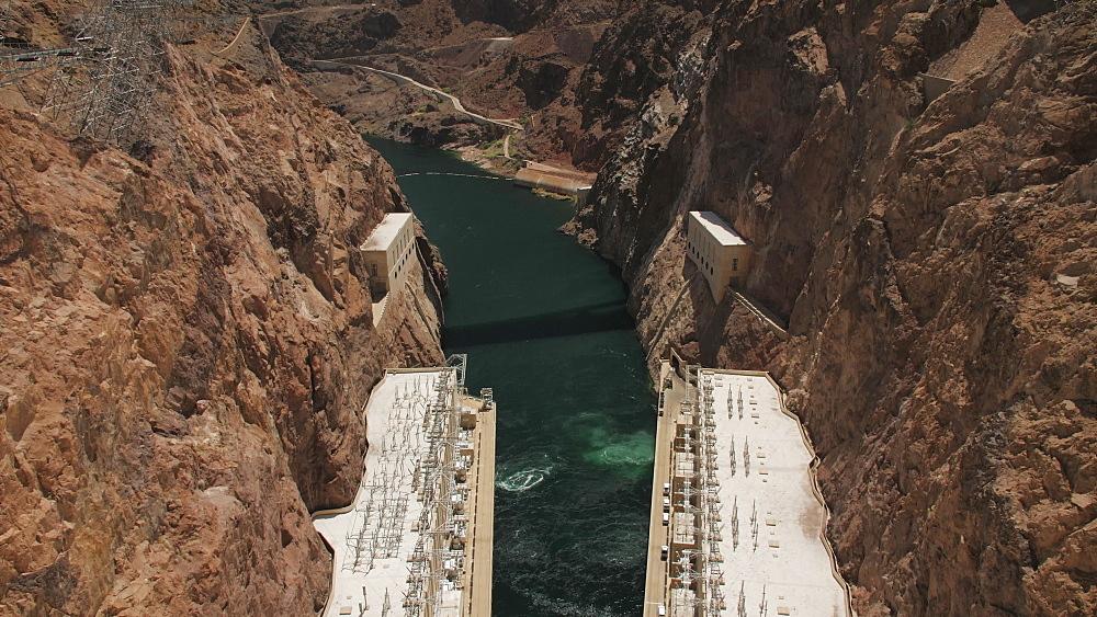 View of the wall of Hoover Dam, Nevada/Arizona border, USA, North America - 1276-965