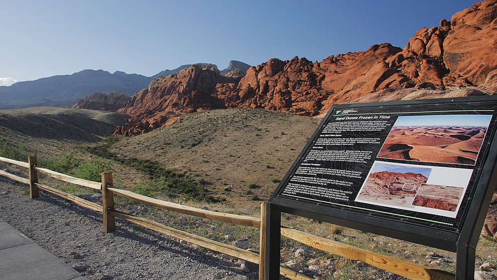 View of Red Rock Canyon National Conservation Area, Nevada, USA, North America - 1276-969