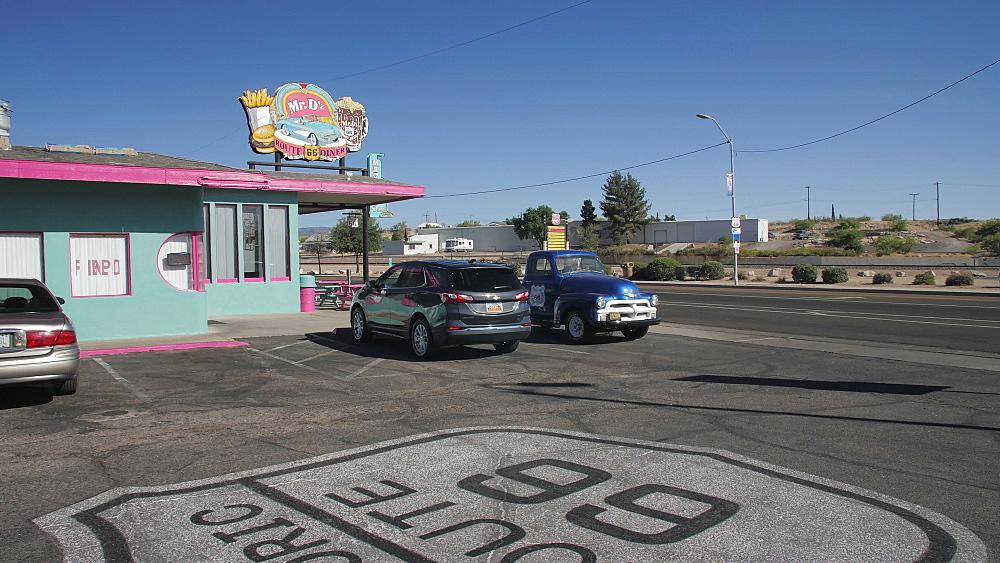 Mural on Route 66, Kingman, Arizona, United States of America, North America - 1276-973