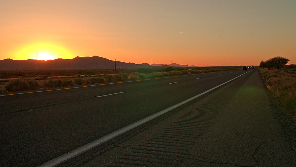 Time Lapse of a sunset over North 93 Highway near Kingman, Arizona, United States of America, North America