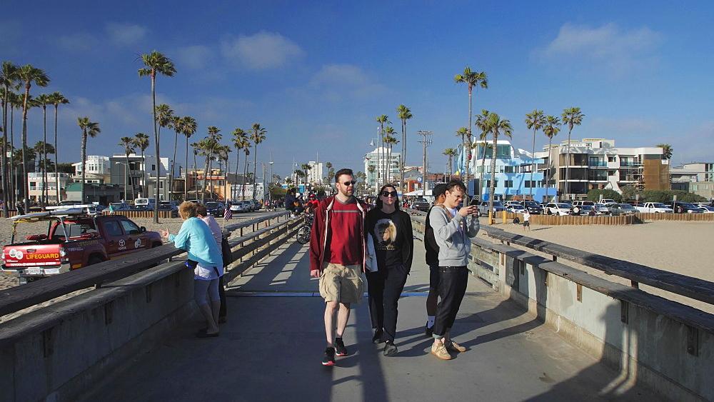 Venice Beach Pier, Sant Monica, Los Angeles, LA, California, USA, North America - 1276-984