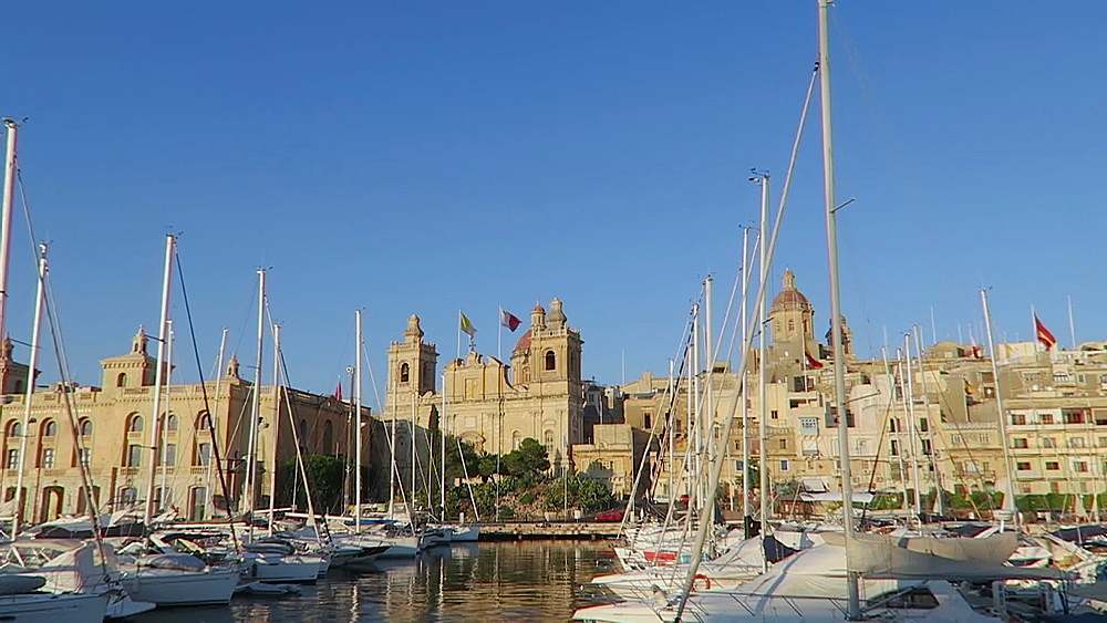 Cospiqua Grand Harbour Marina area on the way to Valletta, Malta, Mediterranean, Europe - 1278-16
