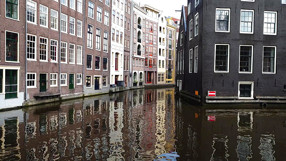 Historic houses by a canal in Amsterdam center, Amsterdam, North Holland, The Netherlands, Europe - 1300-354