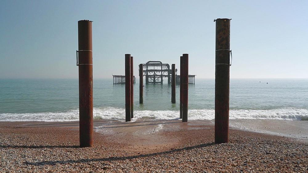 Brighton West Pier at Sunset, East Sussex, UK - 1327-36