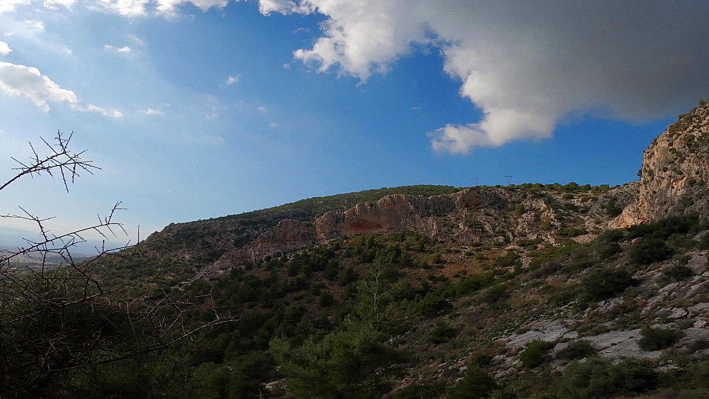 Aspect of crags on Mount Hymettus, near Athens, Greece, Europe