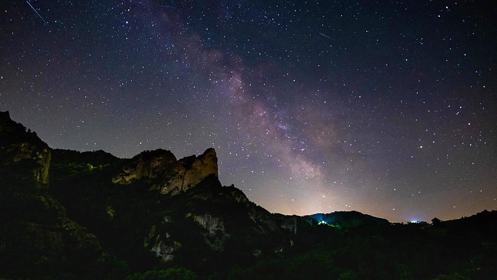 Milky Way Time lapse on a mountain, Emilia Romagna, Italy, Europe