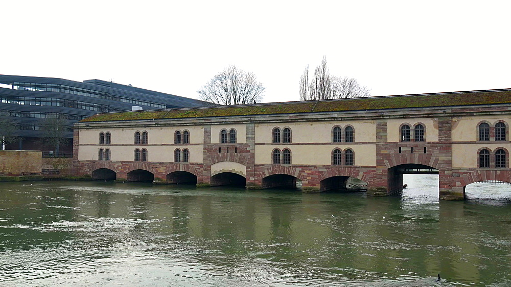 Barrage Vauban and River Ill, Strasbourg, Alsace, Grand Est, France, Europe