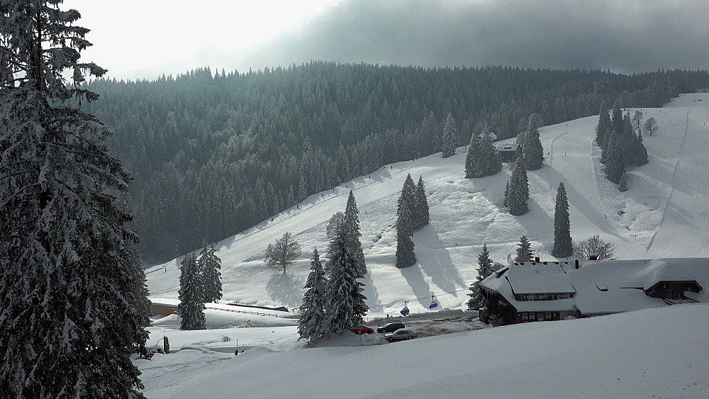 Menzenschwand Lodge at Feldberg Pass, South Black Forest, Schwarzwald, Baden-Wuerttemberg, Germany - 396-10183