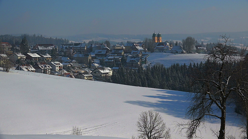 St. Maergen in winter, South Black Forest, Schwarzwald, Baden-Wuerttemberg, Germany - 396-10194