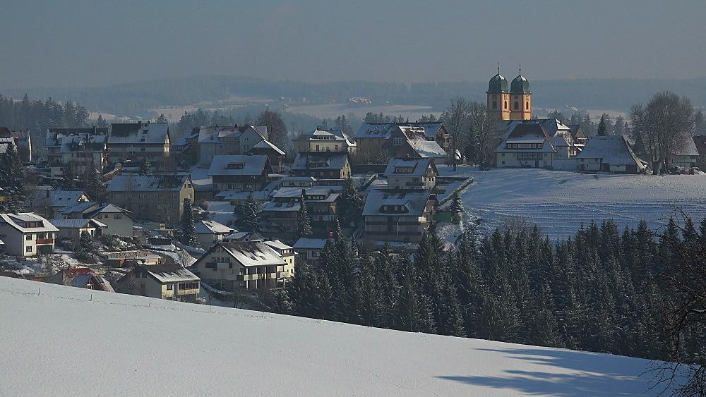 St. Maergen in winter, South Black Forest, Schwarzwald, Baden-Wurttemberg, Germany, Europe - 396-10198