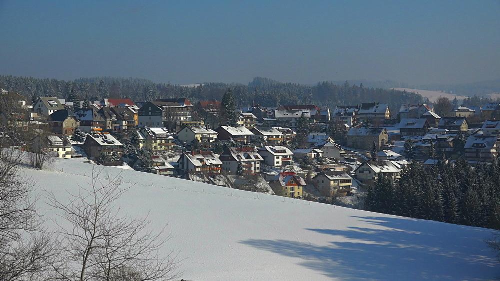 St. Maergen in winter, South Black Forest, Schwarzwald, Baden-Wuerttemberg, Germany - 396-10199