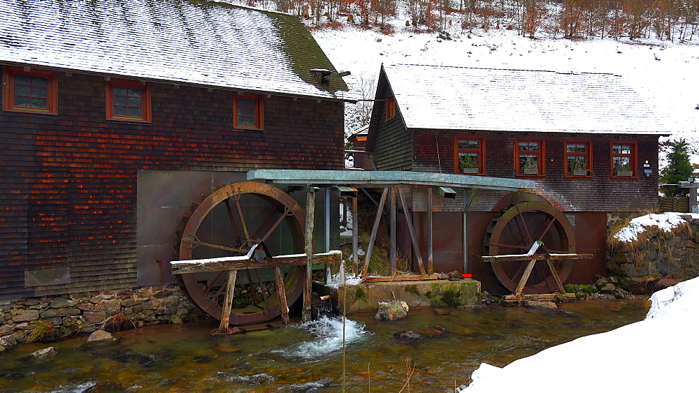 Hexenloch Mill near Furtwangen, South Black Forest, Schwarzwald, Baden-Wurttemberg, Germany, Europe