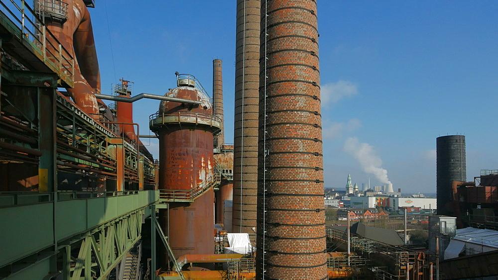 Voelklinger Huette, Voelklingen Ironworks, UNESCO World Heritage Site, Voelklingen, Saarland, Germany, Europe - 396-10213