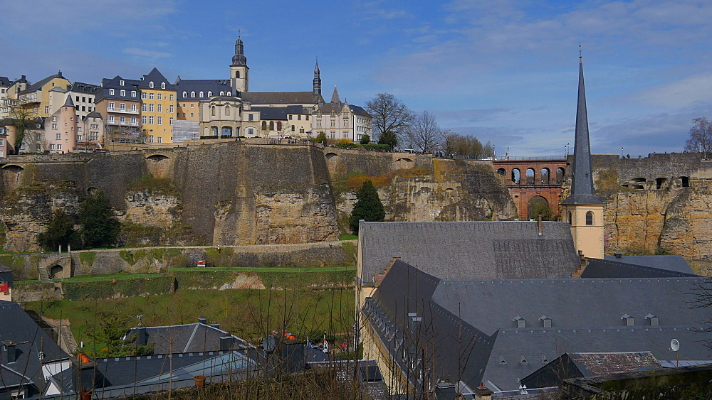 Neumuenster Abbey in the District of Grund, Luxembourg City, Grand Duchy of Luxembourg, Europe - 396-10364