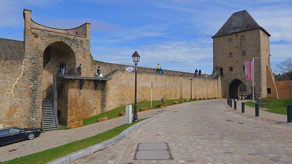 Old city wall at Rue du Rham, Luxembourg City, Grand Duchy of Luxembourg, Europe - 396-10369