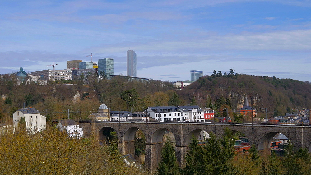 Claussen in Alzette Valley and Kirchberg Plateau, Luxembourg City, Grand Duchy of Luxembourg, Europe