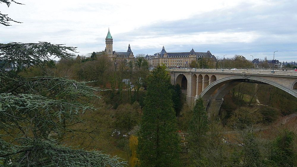 Pont Adolphe Bridge, Luxembourg City, Grand Duchy of Luxembourg, Europe - 396-10397