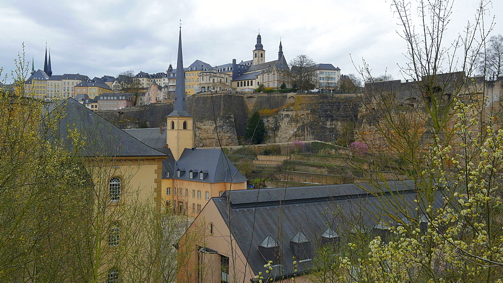 Neumuenster Abbey in the District of Grund, Luxembourg City, Grand Duchy of Luxembourg, Europe - 396-10406