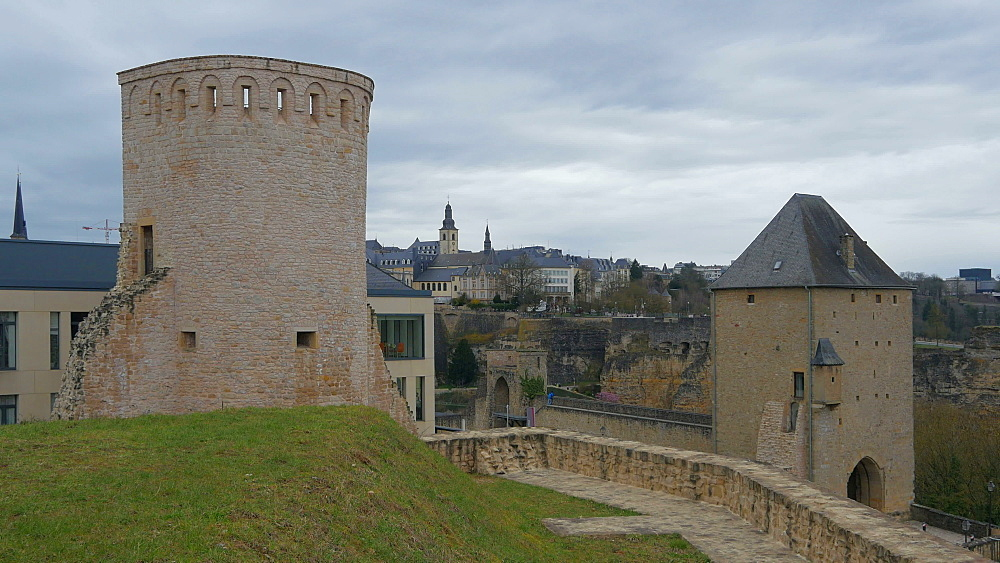 Old fortress at Plateau du Rham, Luxembourg City, Grand Duchy of Luxembourg, Europe