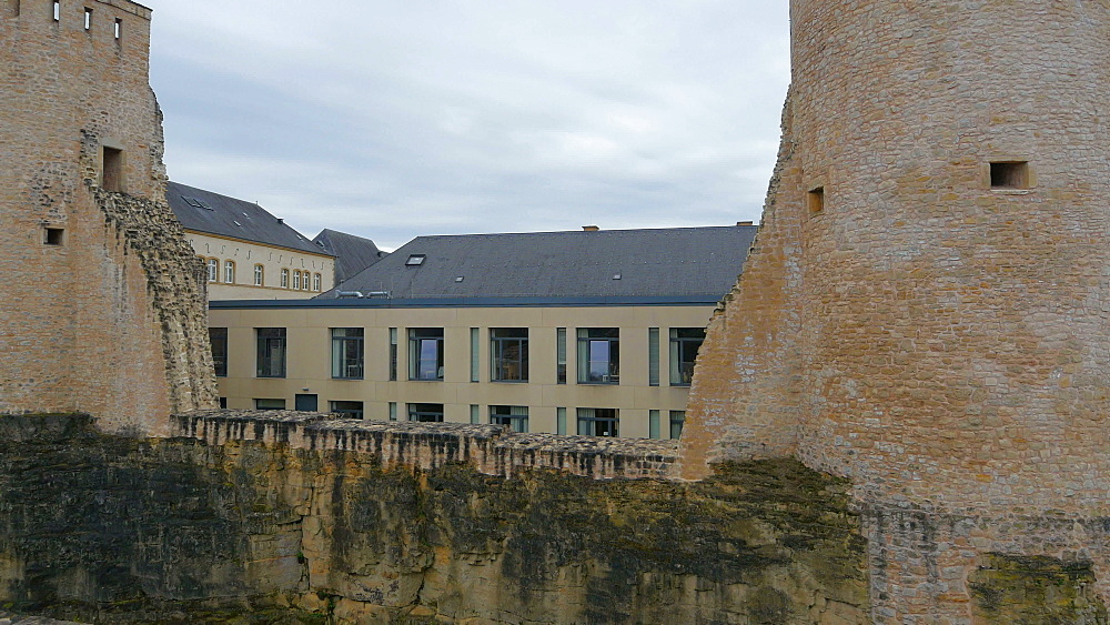 Old fortress at Plateau du Rham, Luxembourg City, Grand Duchy of Luxembourg, Europe - 396-10410