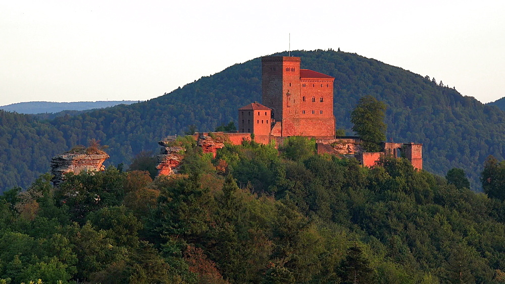 Trifels Castle Ruins near Annweiler, Southern Wine Route, Palatinate Forest, Rhineland-Palatinate, Germany, Europe