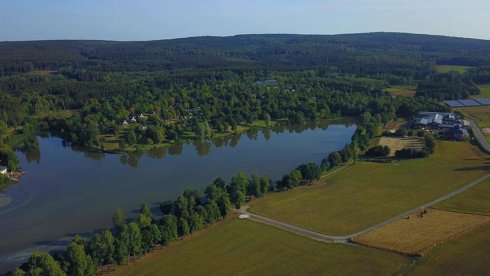 Lake Kell near Kell, Hochwald, Hunruck, Rhineland-Palatinate, Germany, Europe