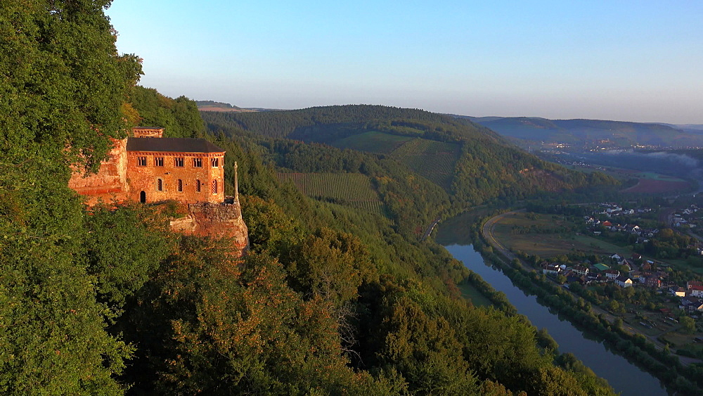 Hermitage with Funerary Chapel for John of Luxembourg and Church of St. John the Baptist in Kastel, Part of Kastel-Staadt, Rhineland-Palatinate, Germany, Europe