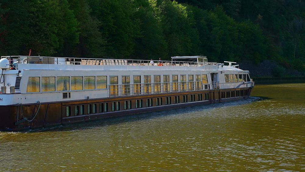Ship in Mettlach, Saar River, Saarland, Germany - 396-10509