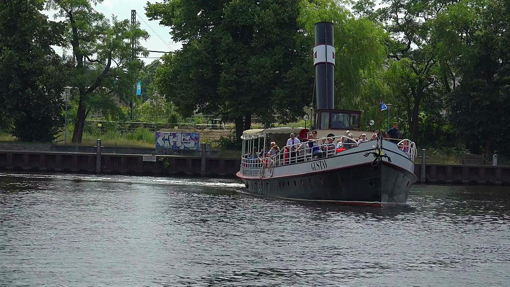 Steam boat Gustav, Potsdam, Brandenburg, Germany, Europe