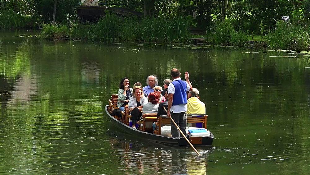Boat tour on Spree River near Luebbenau, Spreewald, Brandenburg, Germany - 396-10562