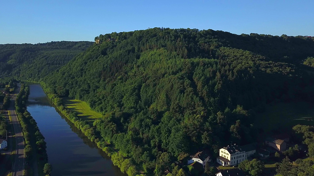 Staadt on Saar River, Part of Kastel-Staadt, Rhineland-Palatinate, Germany, Europe