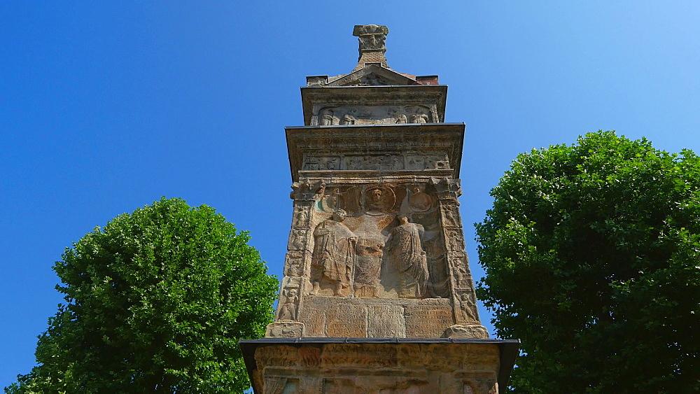 Igel (Igeler) Column, a Roman Funerary Monument, Igel on Moselle River, Moselle Valley, Rhineland-Palatinate, Germany, Europe