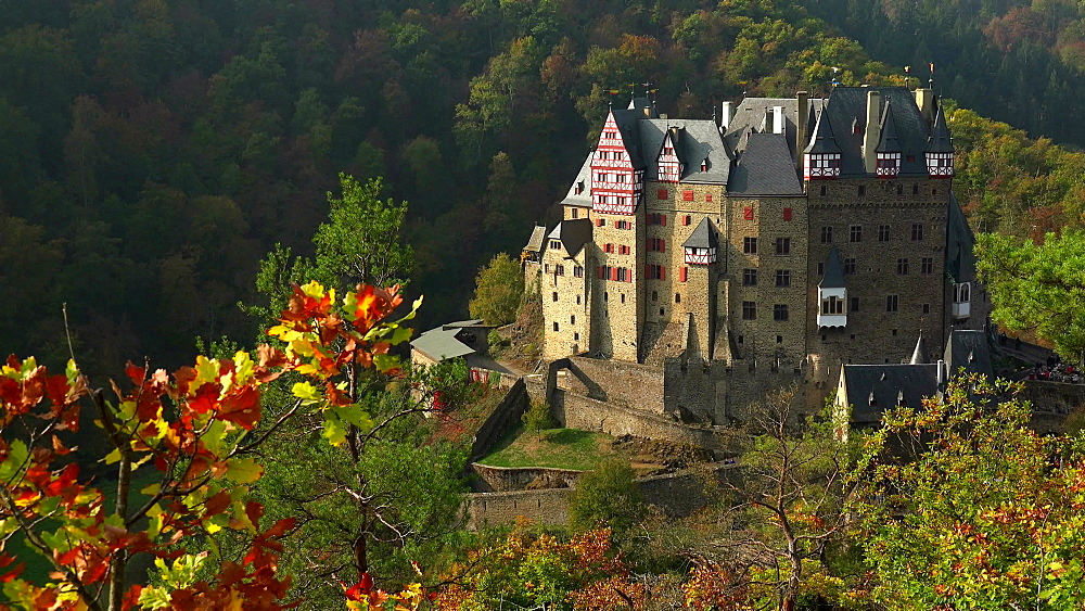 Eltz Castle in Autumn, Eifel, Rhineland-Palatinate, Germany - 396-10615
