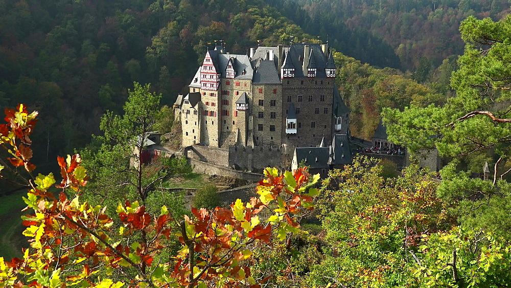 Eltz Castle in autumn, Eifel, Rhineland-Palatinate, Germany, Europe
