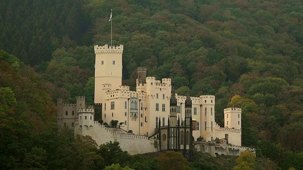 Stolzenfels Castle in Stolzenfels near Koblenz, Rhine Valley, Rhineland-Palatinate, Germany, Europe