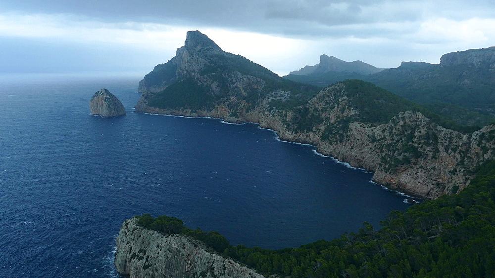 Mirador Es Colomer with view towards Cap de Formentor, Mallorca, Balearic Islands, Spain, Mediterranean, Europe