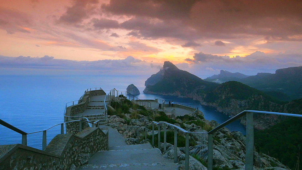Mirador Es Colomer with view towards Cap de Formentor, Mallorca, Balearic Islands, Spain, Mediterranean, Europe