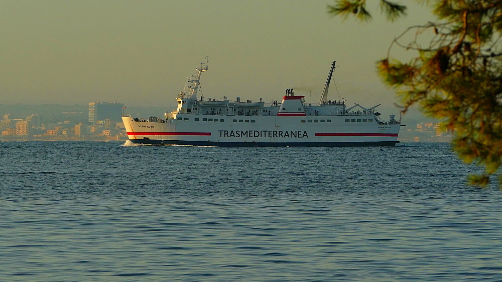 Ferry to Menorca, Bay of Alcudia, Mallorca, Balearic Islands, Spain, Mediterranean, Europe