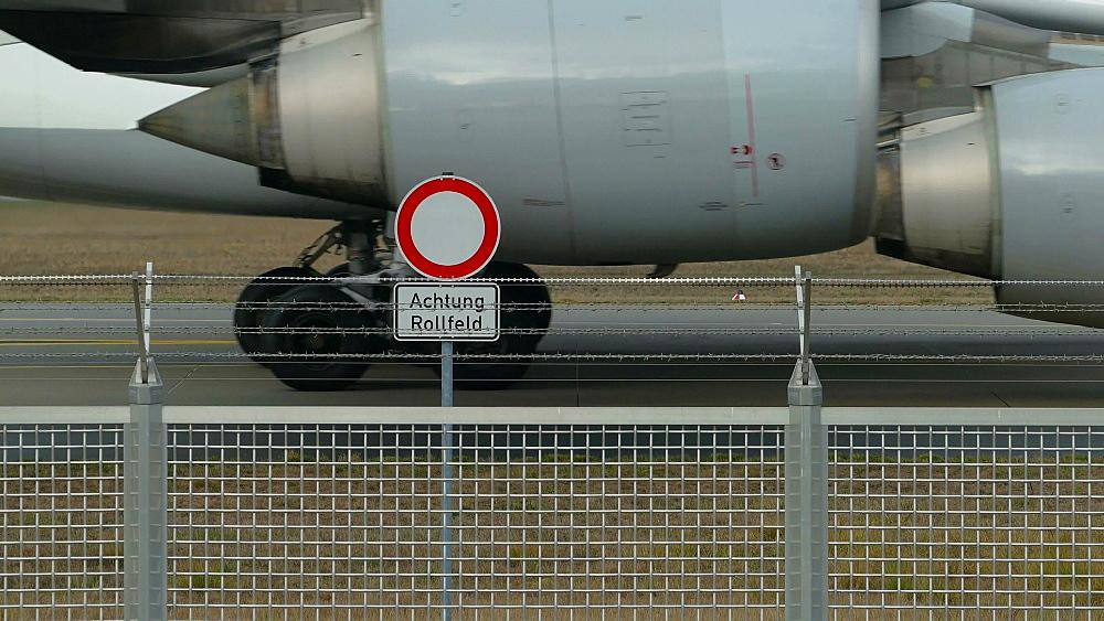 Jet at Frankfurt Airport, Hesse, Germany