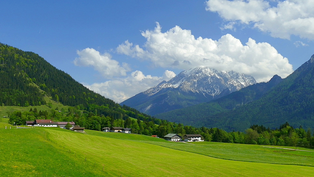Landscape near Ramsau, Upper Bavaria, Germany, Europe