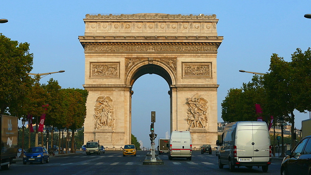 Arc de Triomphe and Champs-Elysees, Paris, France, Europe - 396-5800