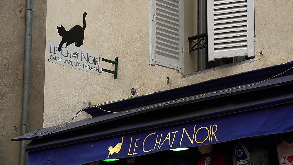 Galerie Le Chat Noir, Montmartre, Paris, France, Europe - 396-5879
