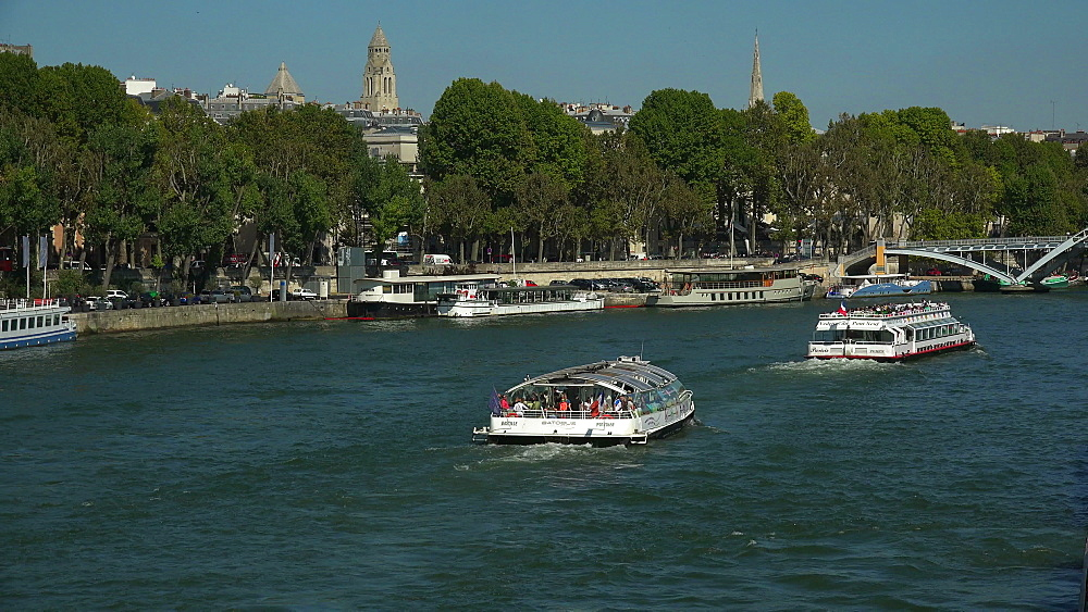 Seine River at Port Debilly, Paris, France, Europe - 396-5909