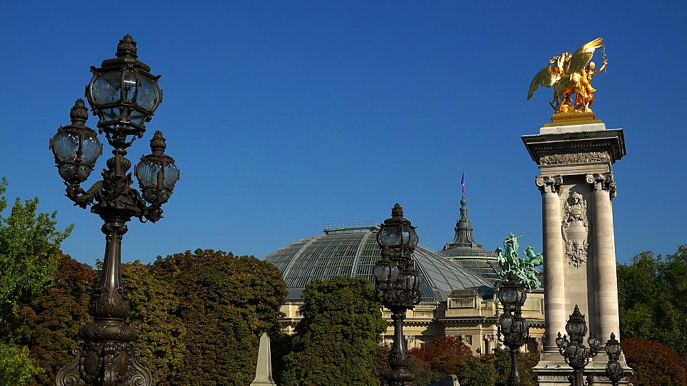 Pont Alexandre III and Grand Palais, Paris, France, Europe - 396-5911