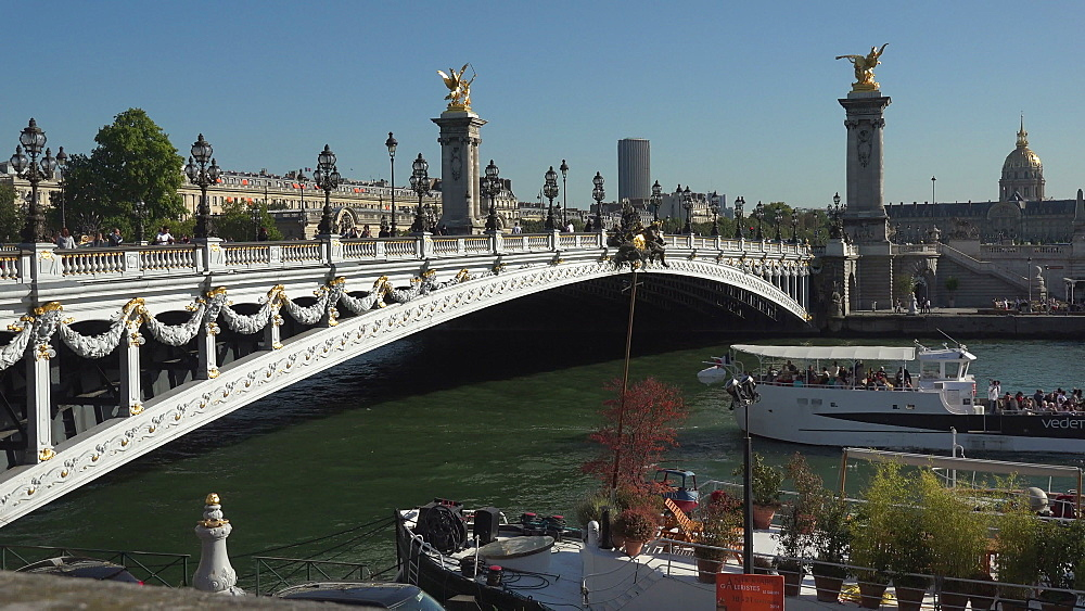 Pont Alexandre III and Les Invalides dome, Paris, France, Europe - 396-5917