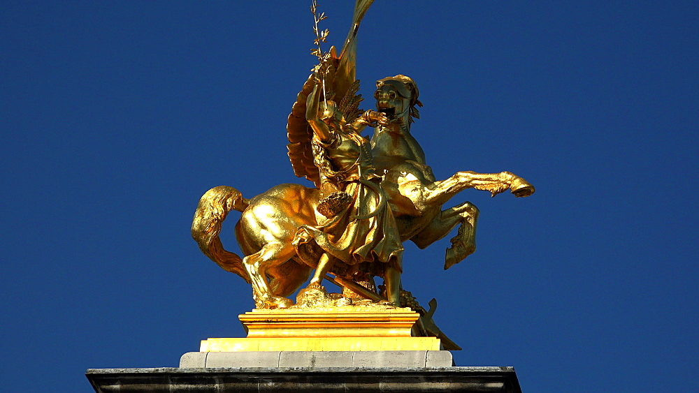 Statue at Pont Alexandre III, Paris, France, Europe - 396-5921