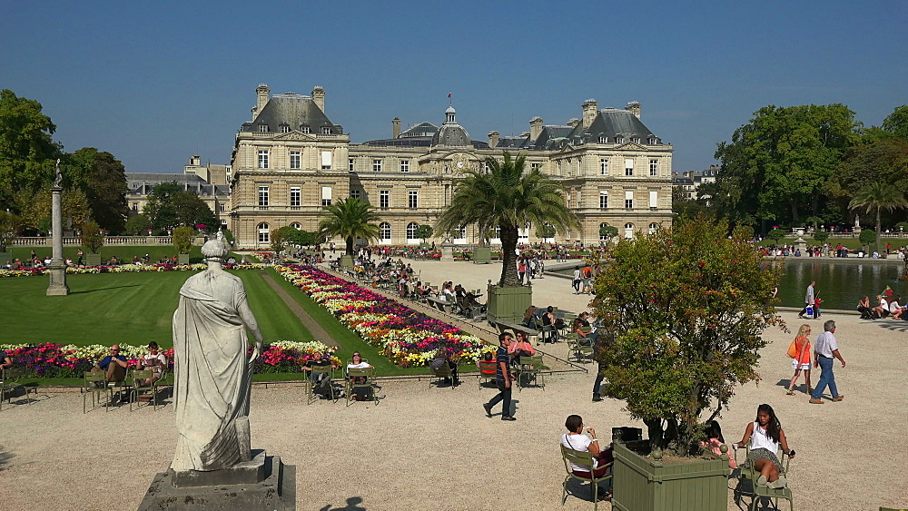 Jardins du Luxembourg and Luxembourg Palace, Paris, France, Europe - 396-5930