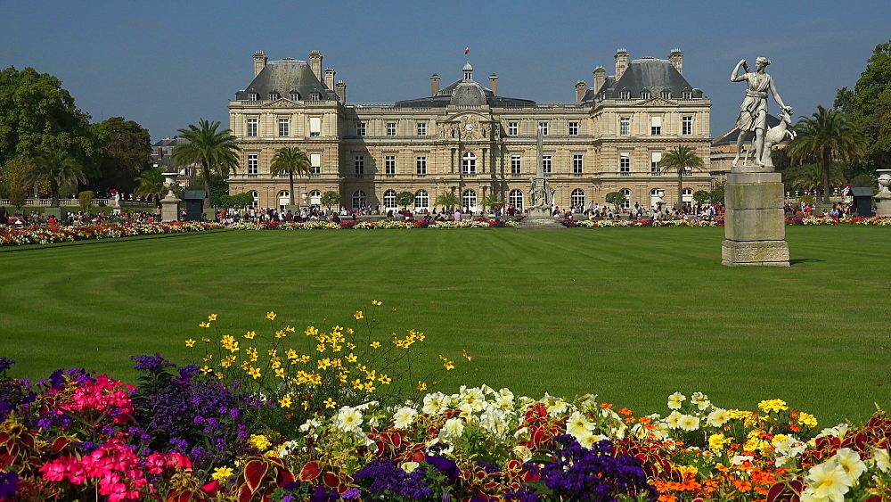 Jardins du Luxembourg and Luxembourg Palace, Paris, France, Europe - 396-5933