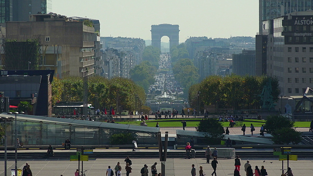Esplanade de la Defense and Arc de Triomphe, Paris, France, Europe - 396-5982