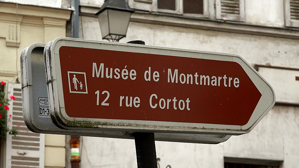Sign at Montmartre, Paris, France, Europe - 396-6004